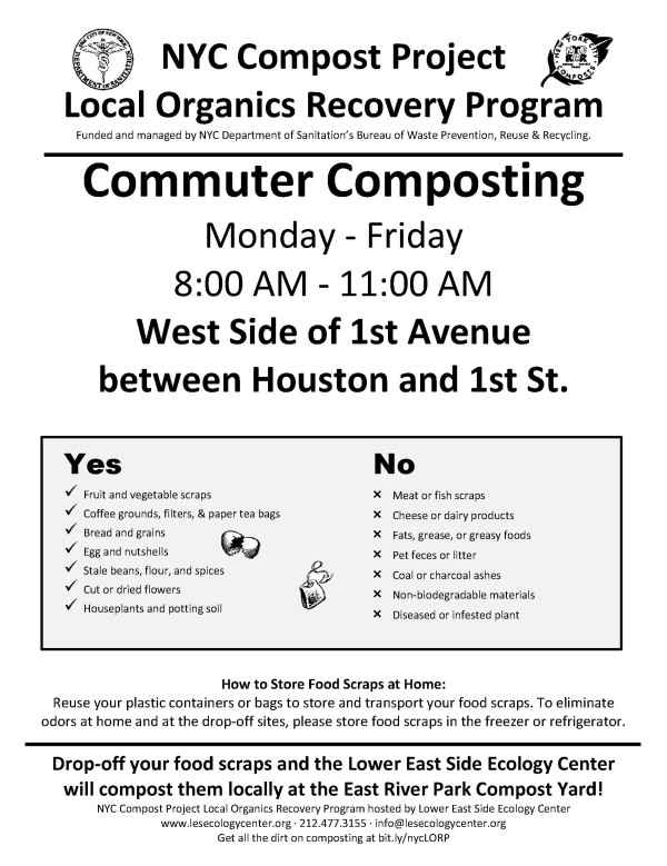 Commuter Composting 1st Ave