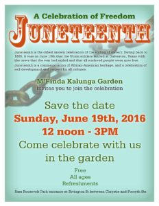 Juneteenth Coming Again to the Garden