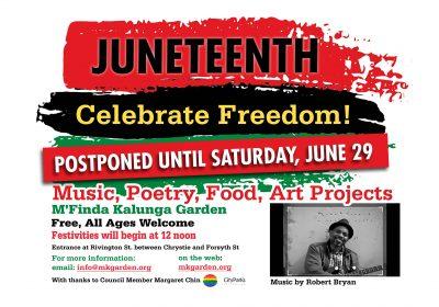 Juneteenth Postponed